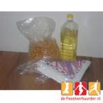 Popcorn ingrediënten zout